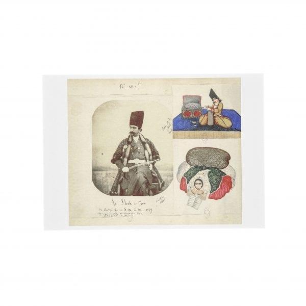 Postcard Naser al-Din Shah 1860