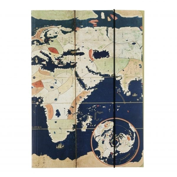 Folder Pair of Namban screens with maps of the world and Japan