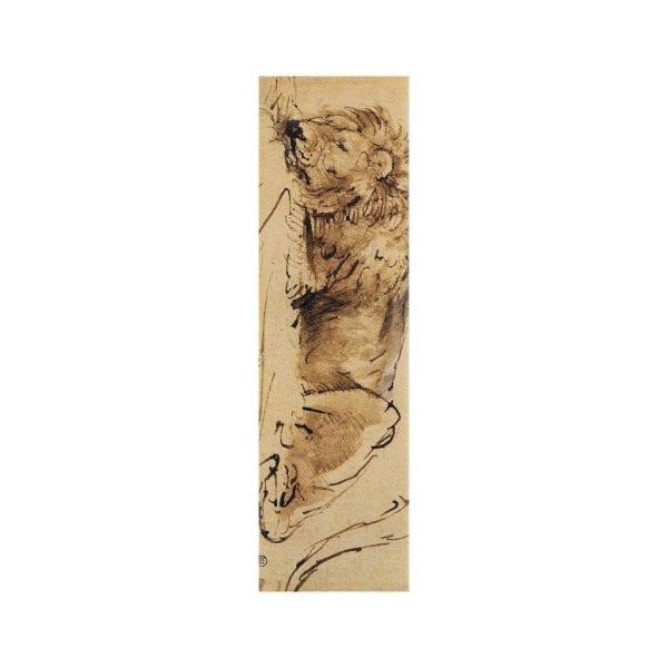 Bookmark Sleeping Lion