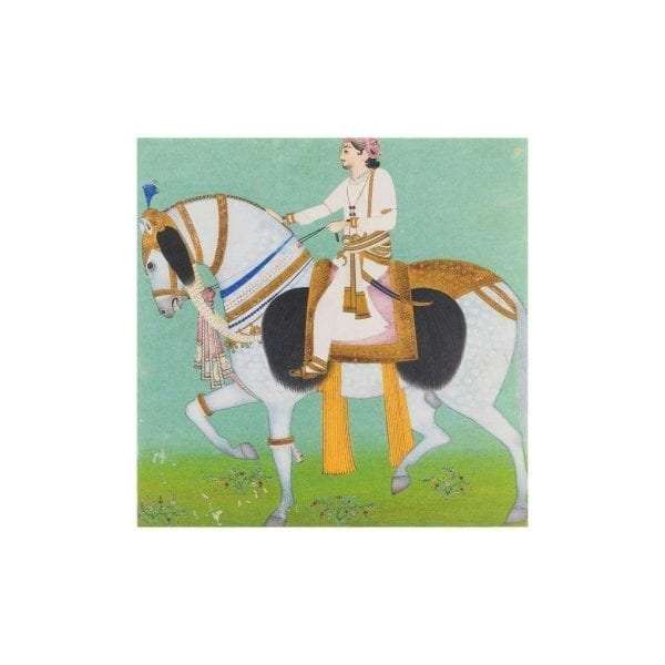 Postcard Equestrian Portrait of Maharao Sheodan Singh of Alwar