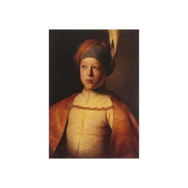 Postcard Boy in a Cape and Turban