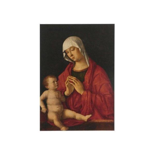 Postcard Madonna and Child