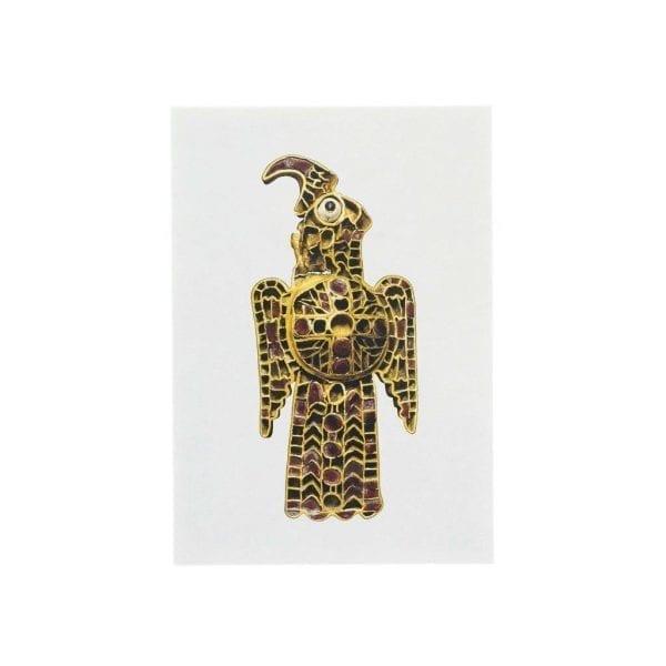 Postcard Eagle-shaped fibula from Domagnano