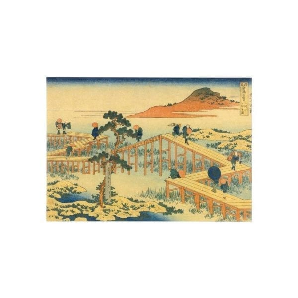 Postcard View of the Yatsu Bridge in Mikawa Province