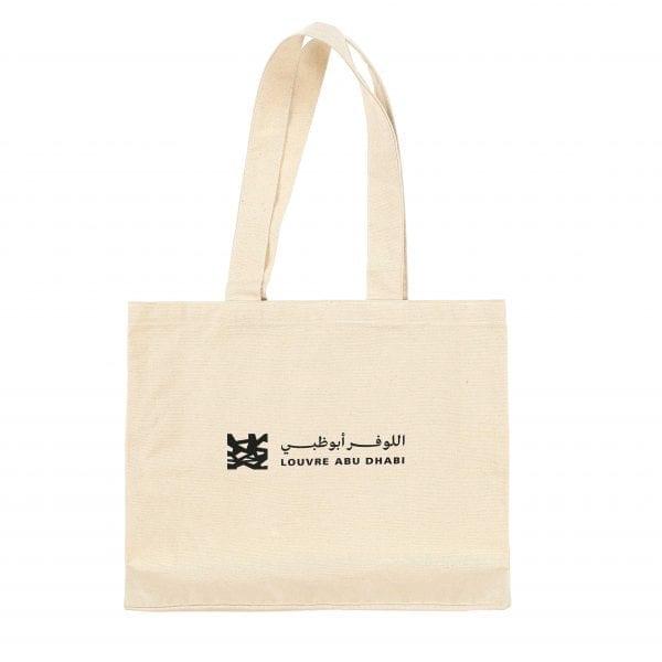 Louvre Abu Dhabi White Organic Tote Bag