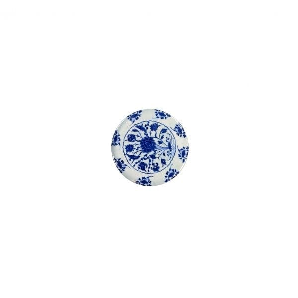 Magnet Dish with bouquet of blue and white lotus