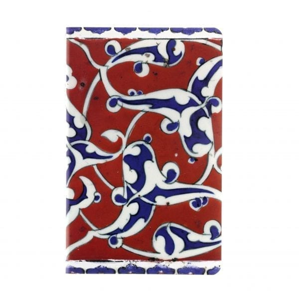 A5 Notebook Border tile with blue and white arabesques