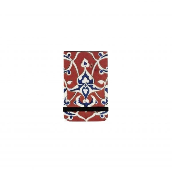 Pocket notebook Border tile with blue and white arabesques