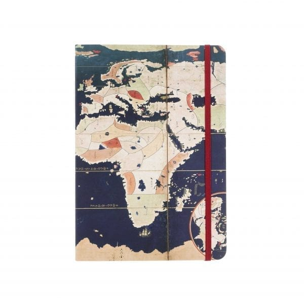 A5 Notebook Pair of Namban Screens with Maps of the world and Japan