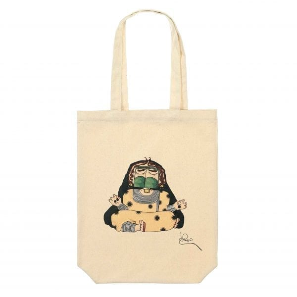 Tote Bag'Sitting Girl by Maitha Hazza