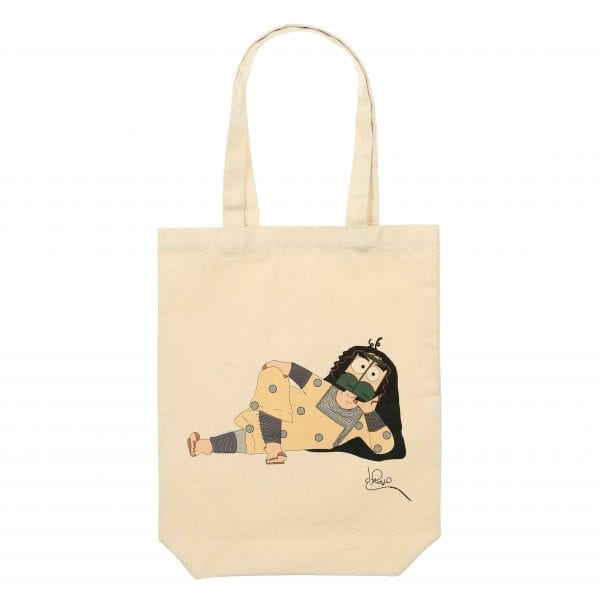 Tote Bag Lying Girl by Maitha Hazza