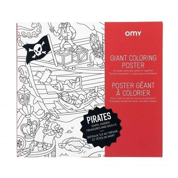 Coloring Poster Pirates