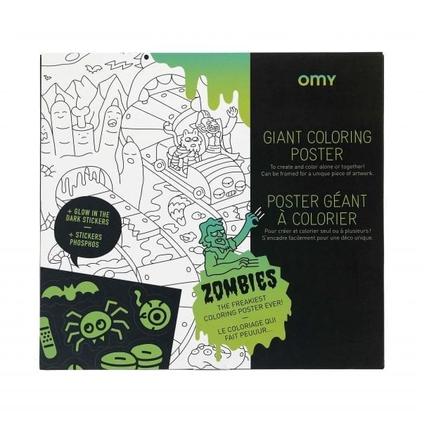 Coloring Poster with Stickers Zombies