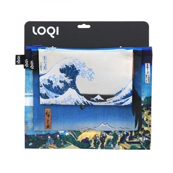 Loqi Zip pockets. Hokusai, Hiroshige.