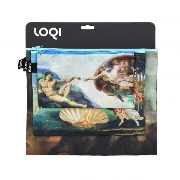 Loqi Zip Pockets. Michelangelo, Sandro Botticelli, Leonardo Da Vinci
