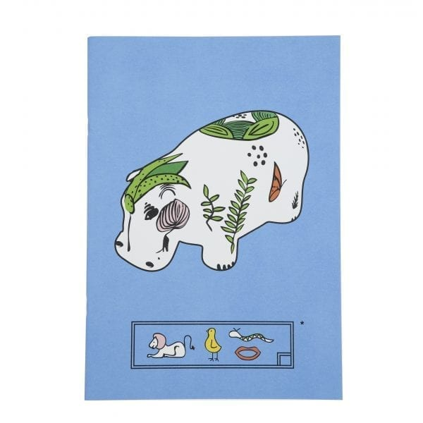 Sketching book Blue hippopotamus