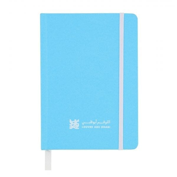Louvre Abu Dhabi blue A6 notebook