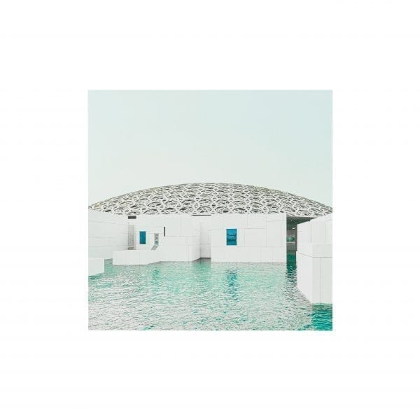 Postcard Louvre Abu Dhabi, a Museum on the Sea