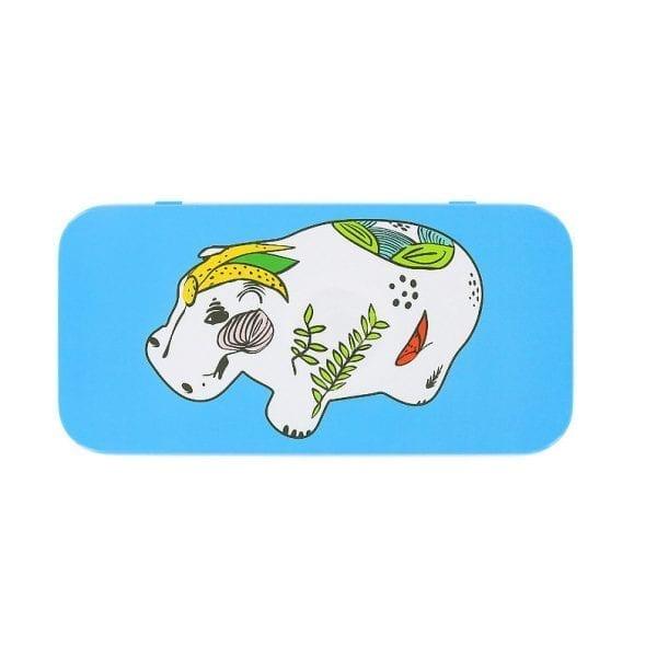 Pencil box Blue Hippopotamus