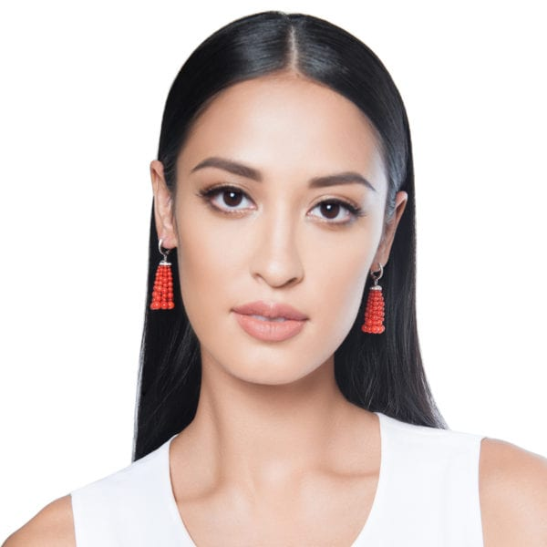 Bahar Gafla Earrings with corals