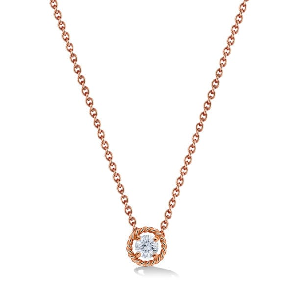 Salasil Gafla Necklace, Rose Gold, Mini