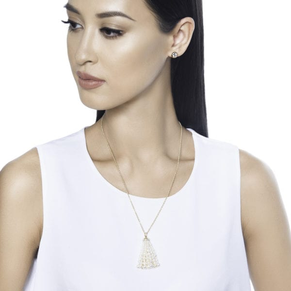 Bahar Gafla Necklace with pearls