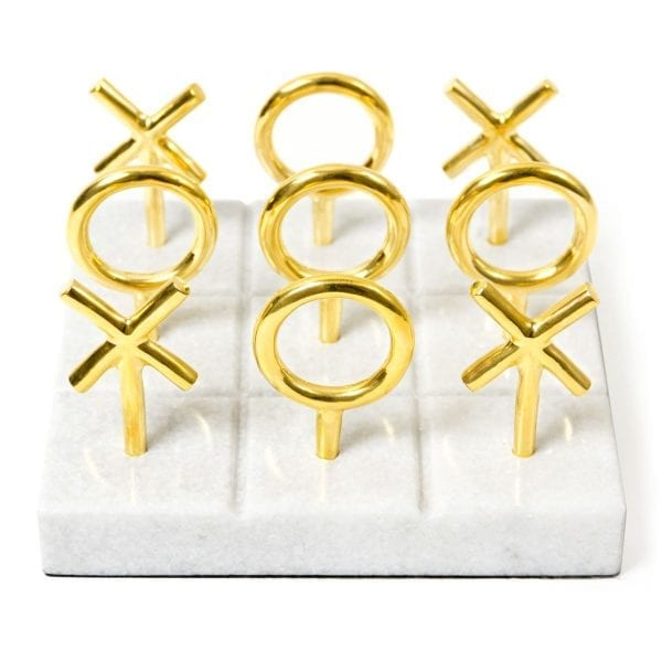 Brass Tic-Tac-Toe Set