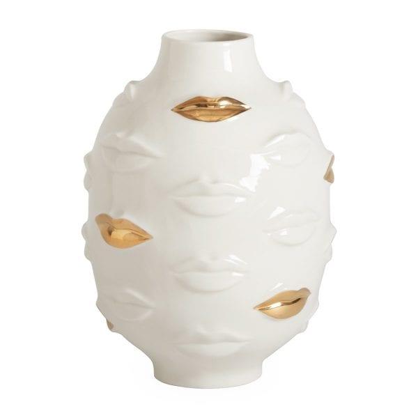 Gilded Gala Round Vase