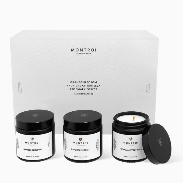 Montroi Set of 3 Scented Candles