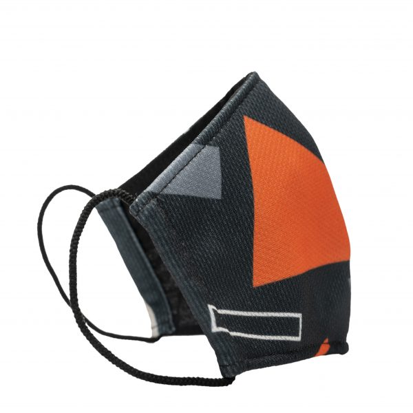 Face Mask Strike white by Red Wedge