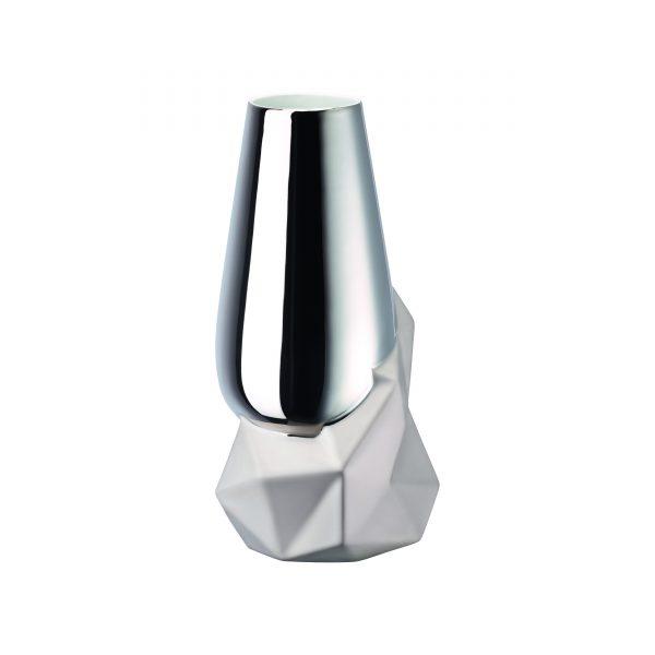Rosenthal Geode Vase platinum