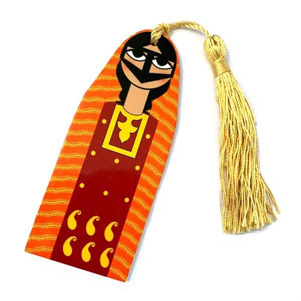 Handmade bookmark Lady Orange