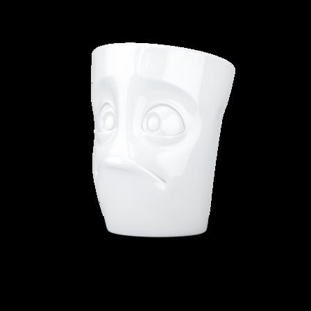 MUG with handle Baffled white, 350 ml